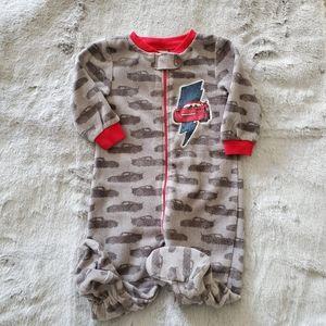 Disney Cars Fleece Zippered & Footed Pajama 6-12M